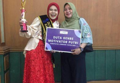 Sieffany, Mahasiswi Psikologi Undar Angkatan 2020, menjadi  Duta Genre Motivator Jombang